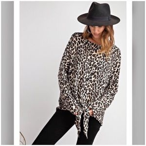 🔥Just In🔥Leopard Printed Brushed Hacci Knit Top